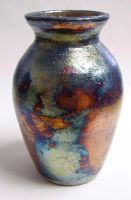 copper sand raku vase by crimmy