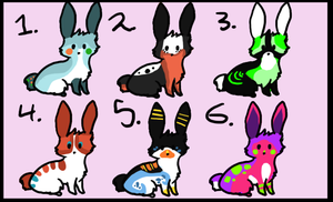 BUNNIESS closed by sugarcakes-adopts