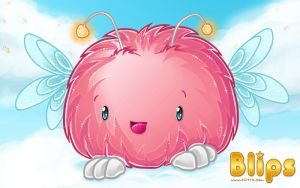 Little Pink Fluffbal by Cilitra