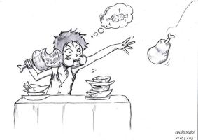 Luffy wants his food by cookiekeks
