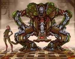 Mech by G-e-e-r-s COLORED by Voodoodwarf