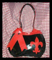 Black and Red Duct Tape Purse by DuckTapeBandit
