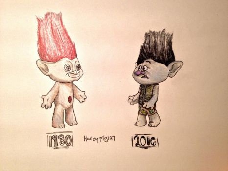 Then and Now: Trolls by harleypig127