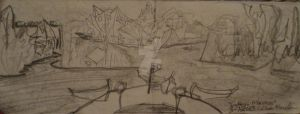 City Concept 7 for video game sketch by CRWardenArt