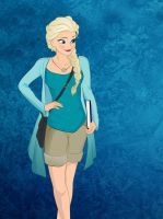 Modern Disney: Queen Elsa by Ladybug-17