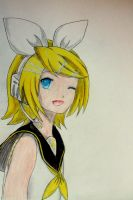 Rin Kagamine. by Tonemhp