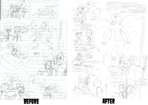 Cartoon Legends Redrawn (Before-After): Chapter 2 by Jiolyemaster