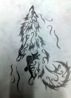 Wolf Element Wind-Tatoo by akshay1