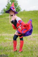 Vanessa Fire Witch Luminous Arc Cosplay by Evil-Siren