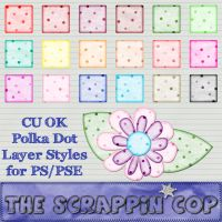 Soft Polka Dot Layer Styles by debh945