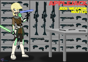 Jedi Weapon Master Applejack by AZ-Derped-Unicorn
