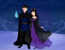 Davide and Aria Frozen-verse by missyalissy