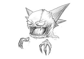 Real Haunter (uncoloured) by Rox-ma-Sox