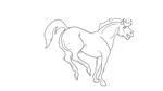 Bucking Horse Free Lineart by OutlawedInclination