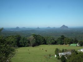 Glasshouse Mountains by Dontheunsane
