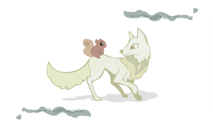 Wolf and Squirrel by Kna