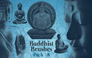 Photoshop Buddhist Brushes Pack#8 by lotus82