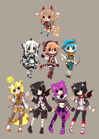 Unsold Adopts -Reduced price-  CLOSED by Ayuki-Shura-Nyan