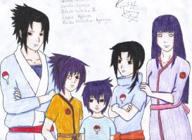 The Uchiha and Hyuuga Family by KitsuneNoShinderu