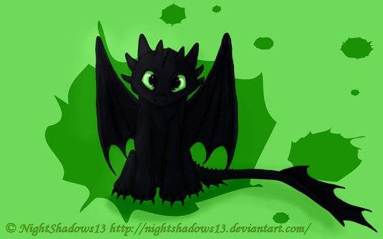 Toothless by NighttShadows