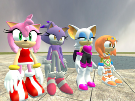 AT Sonic girls: Am, Bl, Ro, Ti by kamiase