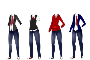 Male Uniform Examples by SteampunkedInkling