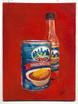 skyline chili can and hot sauce by charles-hall