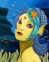 Mermaid of the deep blue by Joouheika