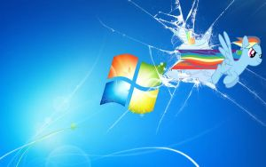 Broken Windows 7 (Rainbow Dash) by DJBrony24