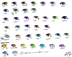 EYE COLOR REFERENCE FOR THE LOSE by Matsuyu
