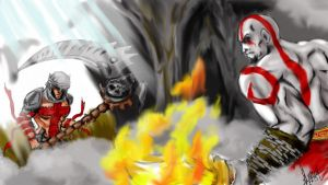 Dante vs Kratos WE WANT BLOOD by EmersonOvens
