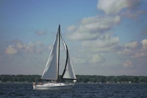 Sailboat Over Lake Michigan 5 by StripedDemon