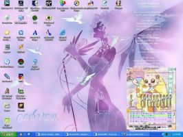 Current desktop with Hana skin by theorygirl