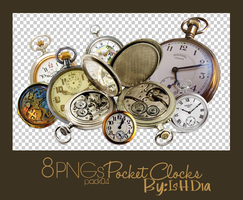 Pack04_PNGs_Pocket Clocks by IsHD1a