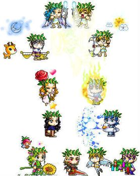 12 Greek Gods and Goddesses by twilightmoonfeathers