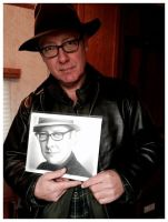 James Spader with Drawing - BLACKLIST by Rick-Kills-Pencils