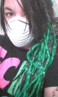 Green and Black Synthetic Dreads by RobinEvaFayEmbry