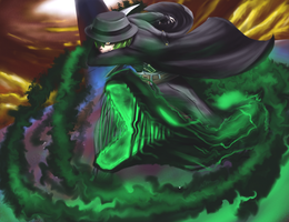 Hazama Blazblue, using Devouring Fang/Zaneiga spec by NeroAngelo127