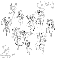 Chibis by Devilsflair