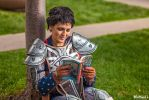 Cassandra Pentaghast Dragon Age Cosplay Reading by PhoenixForce85
