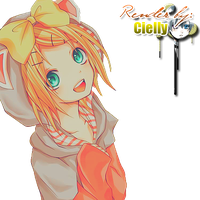 Extracted Yellow Kagamine Rin byCielly by CiellyPhantomhive