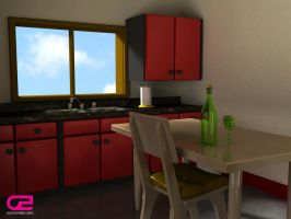 Kitchen 'lame' render :P by OrganicZero