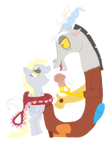 Discord and Derpy by Shoo-In