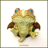 Toad Dragon #10 - Polymer Clay Charm by buzhandmade