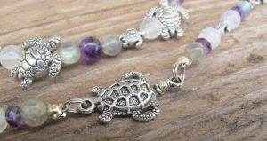 Silver and Shell Turtle Set Closeup 1 by Windthin