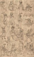 Lackadaisy Coterie by tracyjb