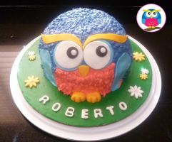 Cute OWL cake by Marce07