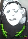 THE MONSTER'S HANDS- FRANKENSTEIN NECKLACE by TocsinDesigns