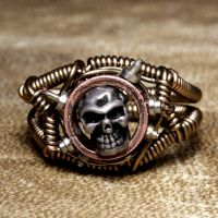 Steampunk Skull Ring 1 by CatherinetteRings