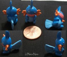Mudkip charm by ElectricDinoSaur